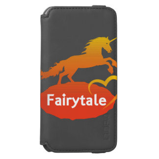 Licorne de conte de fées avec amour coque-portefeuille iPhone 6 incipio watson™