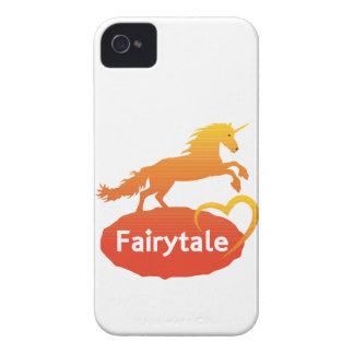 Licorne de conte de fées avec amour coques iPhone 4