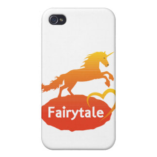 Licorne de conte de fées avec amour étuis iPhone 4