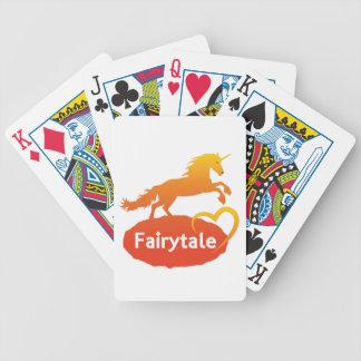 Licorne de conte de fées avec amour jeu de cartes