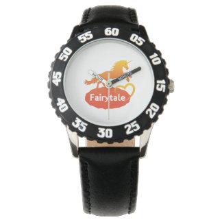 Licorne de conte de fées avec amour montres bracelet