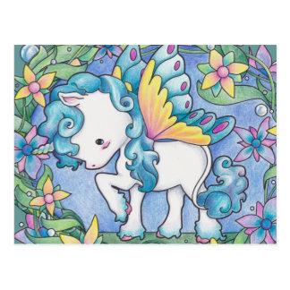 Licorne de féerie carte postale