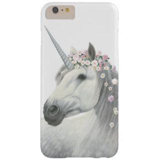 Licorne d'esprit avec des fleurs dans la crinière coque iPhone 6 plus barely there