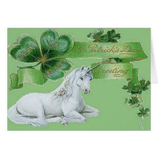 Licorne du jour de St Patrick Cartes