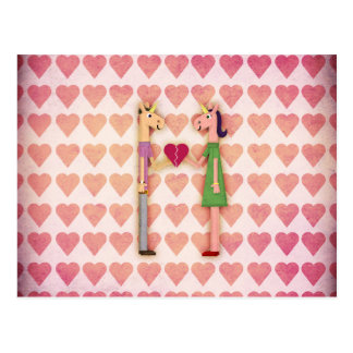 Licorne entière de coeur cartes postales