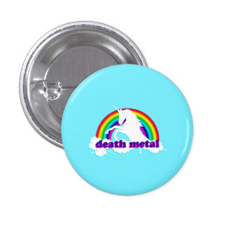 Licorne et arc-en-ciel drôles en métal de la mort badges