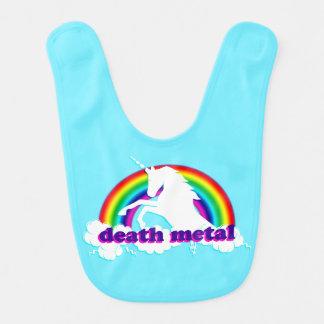 Licorne et arc-en-ciel drôles en métal de la mort bavoirs pour bébé