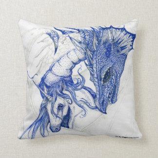 Licorne et dragon de caresse coussin