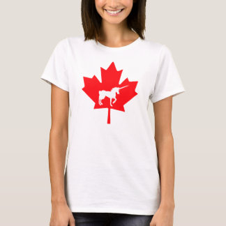 Licorne graphique de Canadien de T-shirt de
