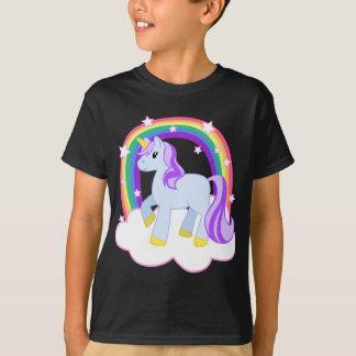 Licorne magique mignonne avec l'arc-en-ciel t-shirt