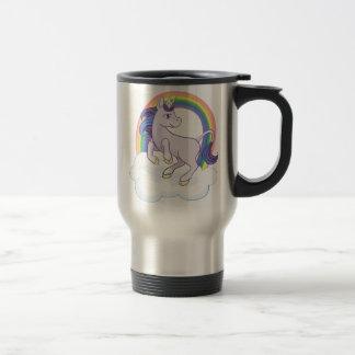 Licorne magique mignonne d'arc-en-ciel mug de voyage en acier inoxydable