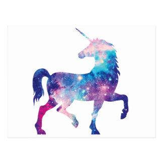 Licorne magique scintillante carte postale