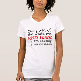 Licorne majestueuse dirigée rouge t-shirt