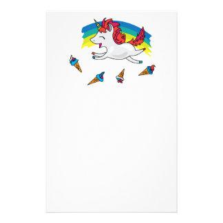 Licorne mignonne avec l'illustration de cool papeterie