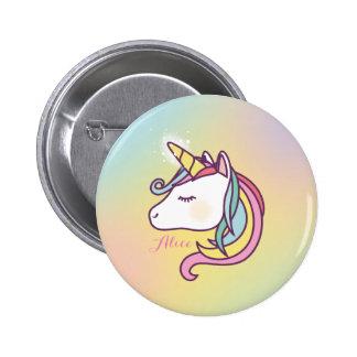 Licorne mignonne badge