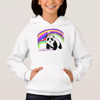 Licorne mignonne de panda d'arc-en-ciel