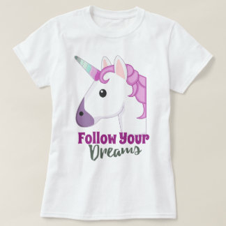 Licorne mignonne d'emoji t-shirt