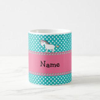 Licorne mignonne nommée personnalisée mug