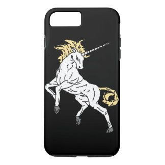 Licorne (noir) coque iPhone 8 plus/7 plus
