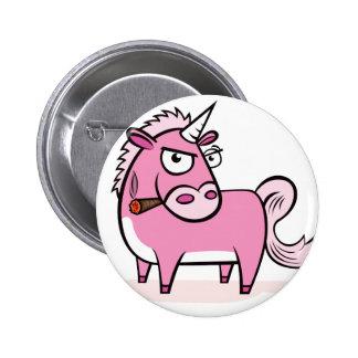 Licorne rose de tabagisme badge