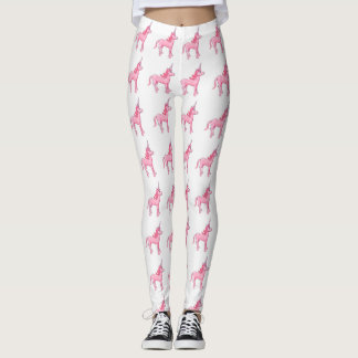 Licorne rose leggings
