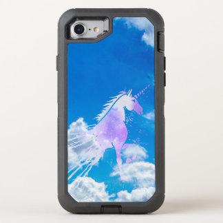 Licorne rose magique de nuages rêveurs blancs de coque otterbox defender pour iPhone 7