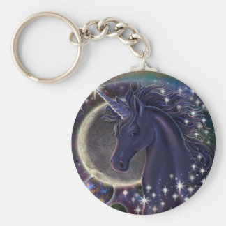 Licorne stellaire porte-clé rond