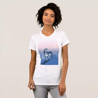 Licorne unique dans la forêt bleue t-shirt