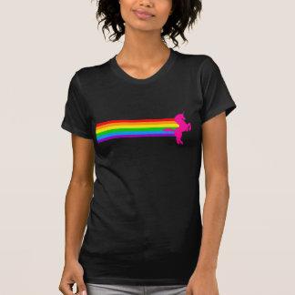 Licorne vintage d'arc-en-ciel du tigre 80S de T-shirt