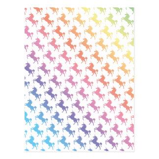Licornes d'arc-en-ciel carte postale