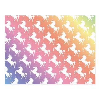 Licornes d'arc-en-ciel II Carte Postale