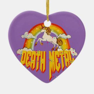 Licornes de métal de la mort ornement cœur en céramique
