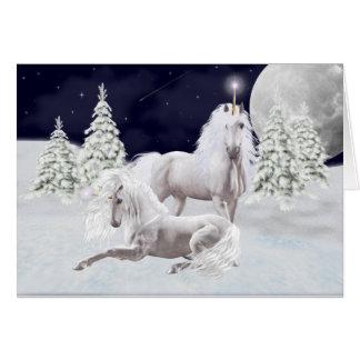 Licornes de Noël Carte De Vœux