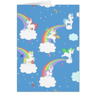Licornes espiègles carte de vœux