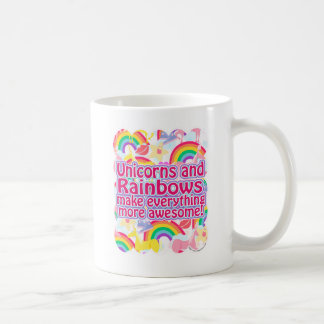 Licornes et arcs-en-ciel mug