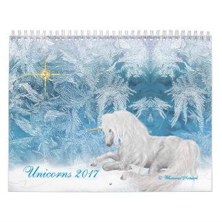 Licornes et Pegasus d'imaginaire sur le calendrier