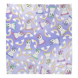 Licornes Girly mignonnes et motif coloré Bandana