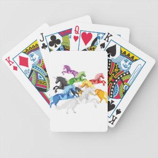 Licornes sauvages colorées d'illustration cartes à jouer