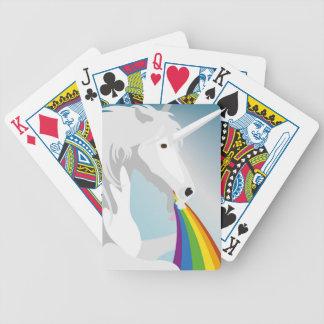 Licornes vomissantes d'illustration jeux de cartes