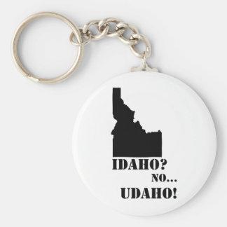 L'Idaho aucune carte d'Udaho Porte-clé Rond