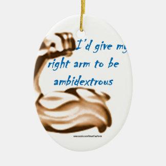 L'identification donnent mon bras droit pour être ornement ovale en céramique