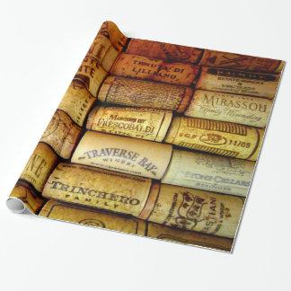 Lièges de vin en abondance papiers cadeaux