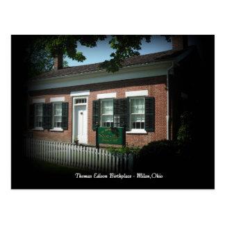 Lieu de naissance de Thomas Edison carte postale