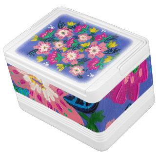 L'igloo 12 de fleurs de rose peut glacière