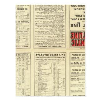 Ligne atlantique de côte de page des textes carte postale