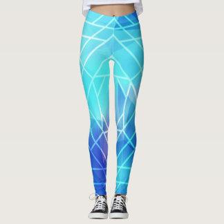Ligne blanche bleue leggings