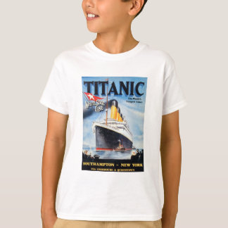 Ligne blanche titanique affiche d'étoile t-shirt