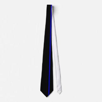 Ligne bleue mince cravate