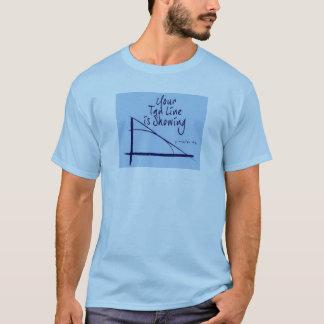 Ligne bronzage chemise de plaisanterie t-shirt