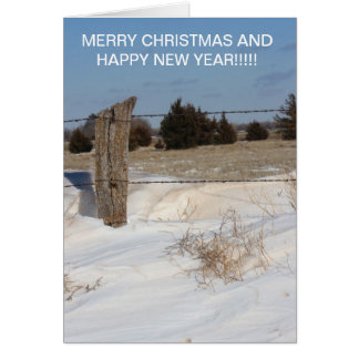 Ligne de barrière de Milou carte de Noël